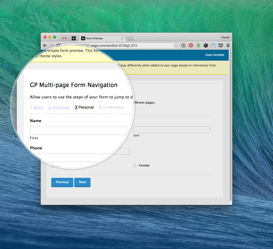 Multi Page Navigation / Progress Bar